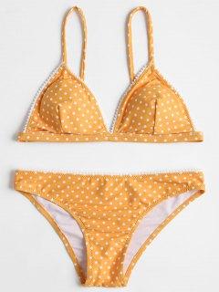 Ensemble De Bikini à Pois - #e9ab17 S