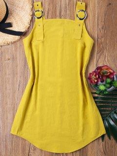 Ring Strap Mini Dress - Yellow L