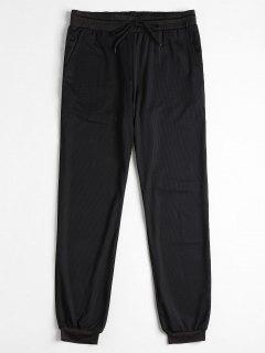Pantalones Deportivos De Malla Con Cordón Ajustable - Negro S