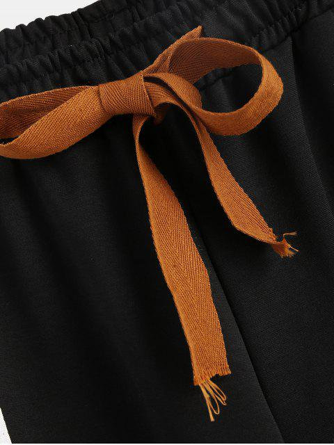 Pantalones Parchados Rayada - Negro XL Mobile