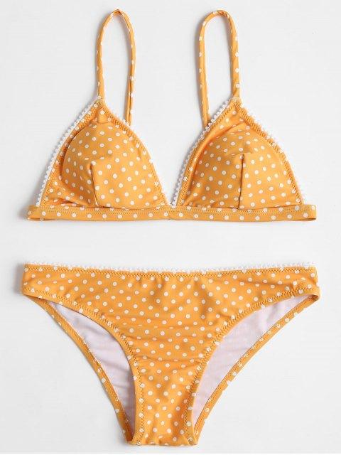 Polka Punkt Bikini Set - Biene Gelb M Mobile