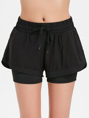 Shorts de sport superposés en maille