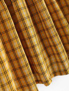 Blusa Mangas Cuadros A Sin Amarillo Con Cuadros r5XTrwPR