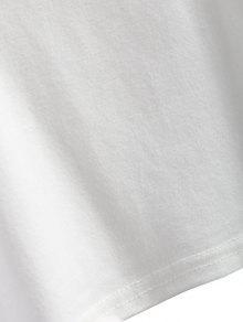Rayada Camiseta Blanco De Con M Manga Parche 225;n Ragl qYFZaqP