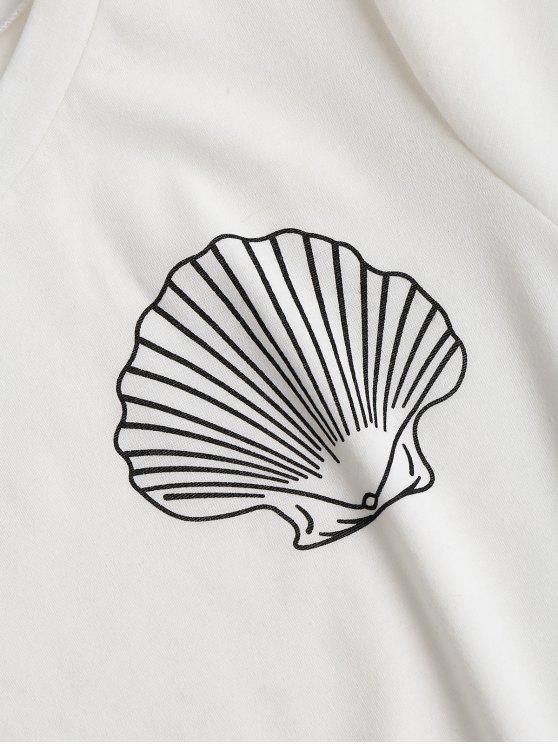 Up Shells White Rolled S Sleeve Top OxzWSn1Tn