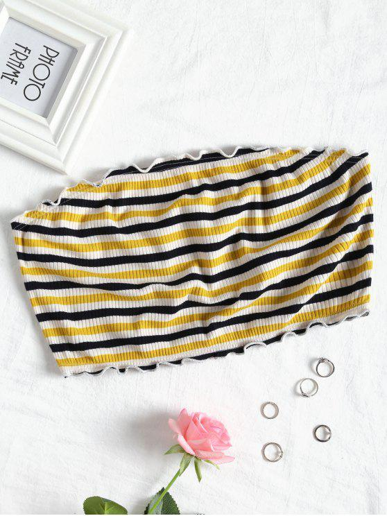 chic Striped Strapless Top - STRIPE L