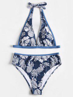 Halfter High Cut Ananas Druck Bikini - Blau 2xl