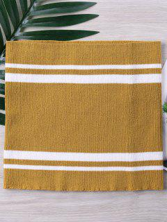 Two Tone Striped Knitted Tube Top - Golden Brown Xl