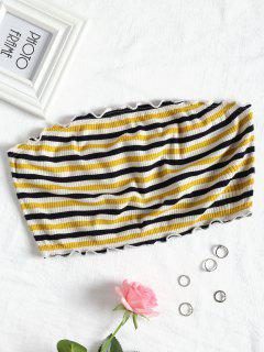 Striped Strapless Top - Stripe L