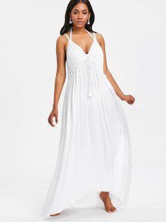 Backless Maxi Beach Dress - White