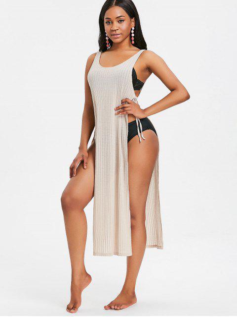 Slit Tie Sides camiseta sin mangas larga - Rubia M Mobile