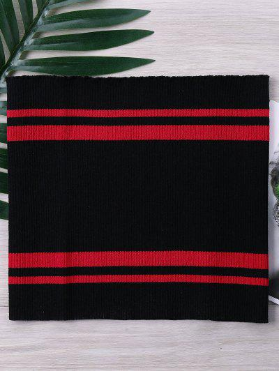 Two Tone Striped Knitted Tube Top