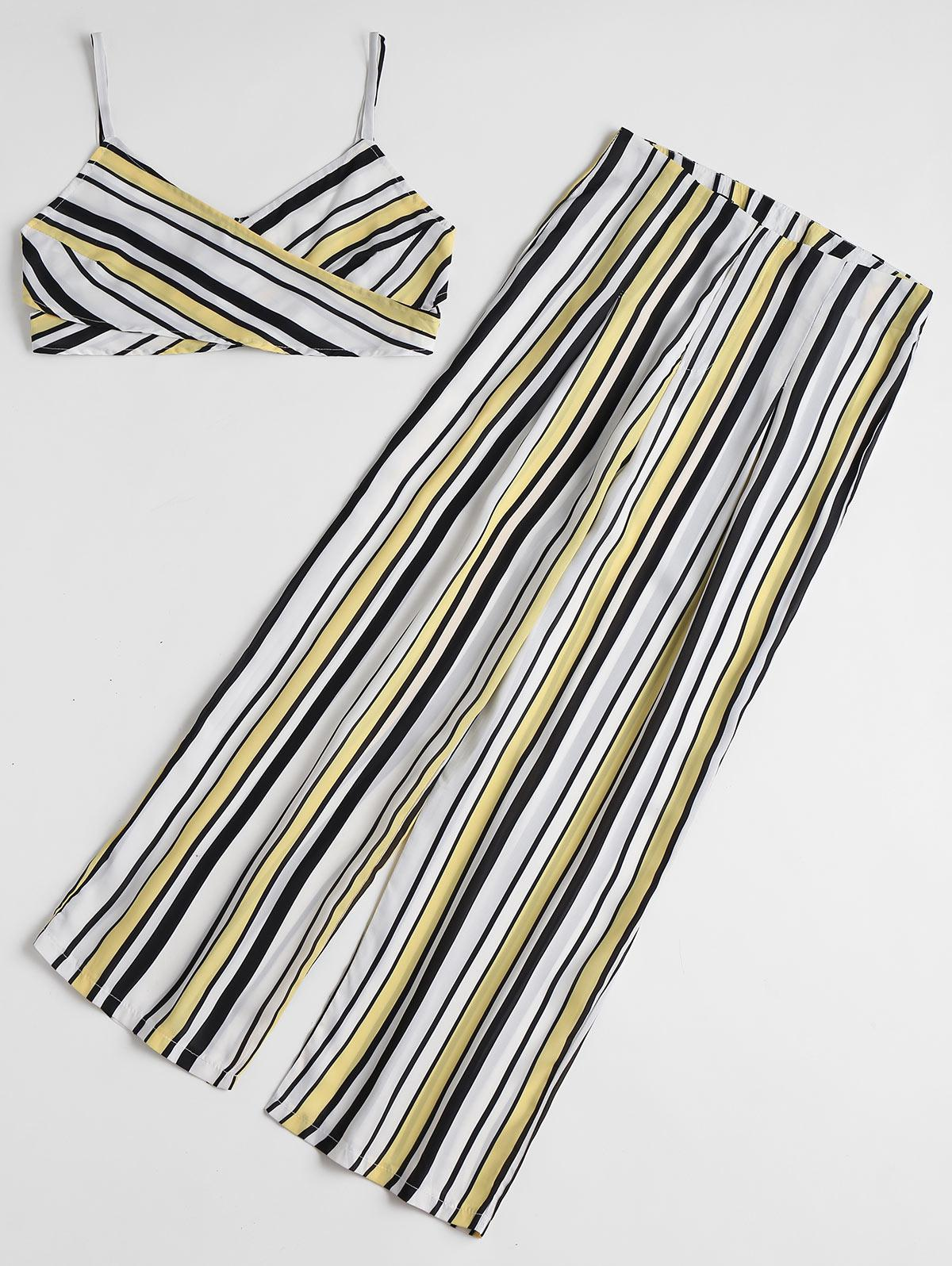 Stripes Cross Over Top