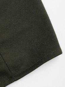 Mangas Camiseta Tie Verde Back Sin Up Lace S Ejercito X1xSP1