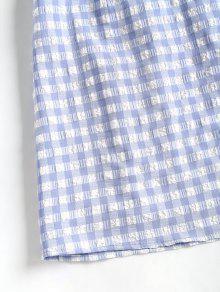 Cuadros De Claro Azul A L Cuadros Cami Vestido qwx51CEn