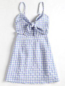 A Cuadros Cuadros Claro Cami Azul De L Vestido xIwqtnp7EW