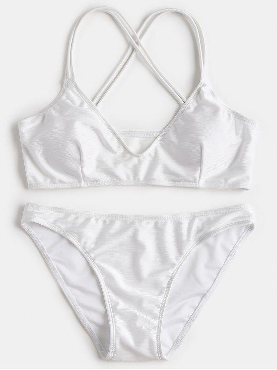 new Criss-cross Padded Bikini Set - WHITE L