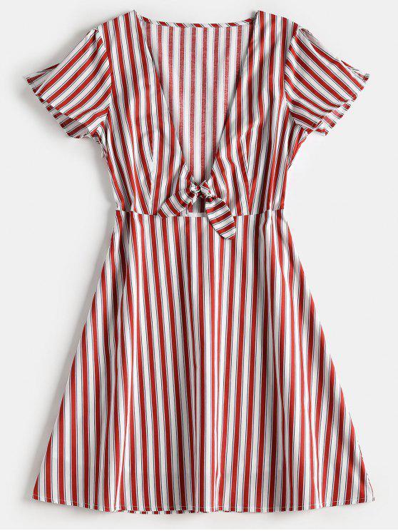 Kleid a linie gestreift