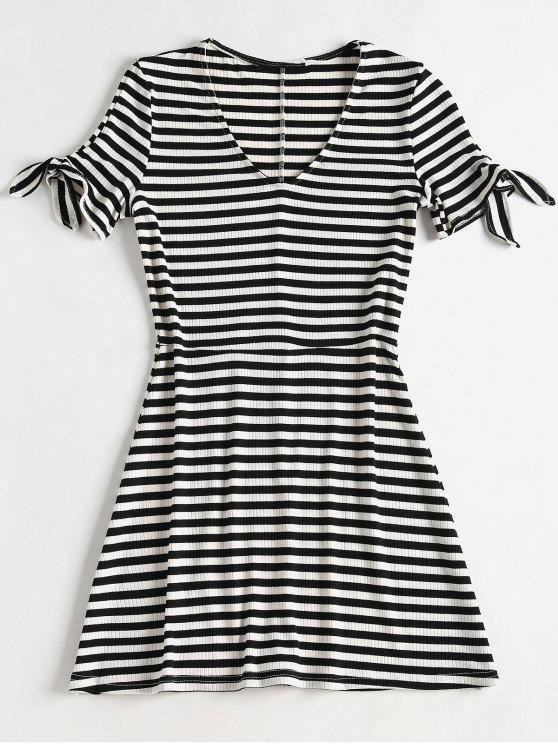 a01ab1ab6fa89 Striped Rib Knit Mini Skater Dress