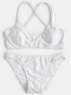 Kreuz Gepolstertes Bikiniset - Weiß S