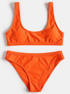 Sport Tank Bikini Set - Orange L