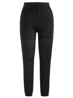 Pantalon De Jogger En Maille à Cordon De Serrage - Noir L