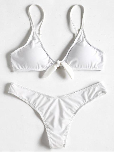 Conjunto de bikini nudo tanga - Blanco S Mobile