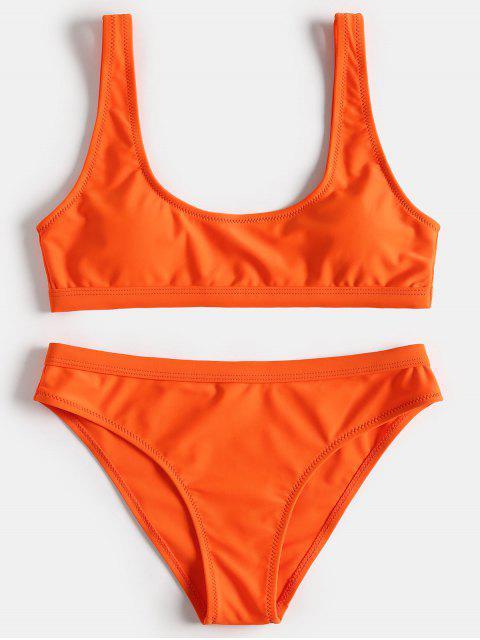 Sport Tank Bikini Set - Orange M Mobile