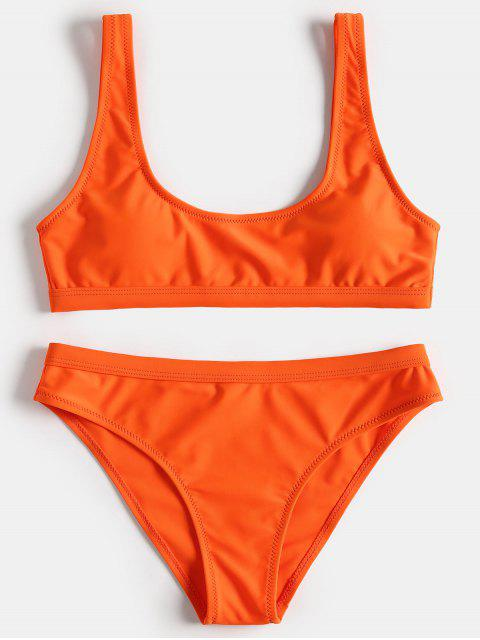 Sport Tank Bikini Set - Orange L Mobile