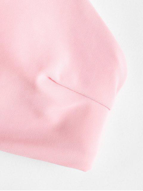 С принтом листьев ZAFUL Бикини в сборе - Светло-розовый M Mobile