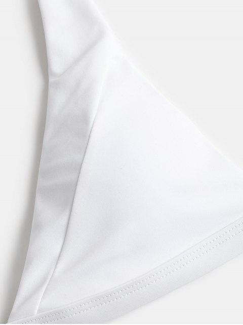 Conjunto de bikini de corte alto de leopardo - Blanco S Mobile