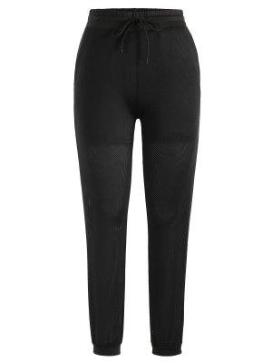 Pantalon de Jogger en Maille à Cordon de Serrage
