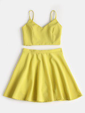 Smocked Crop Cami Top Und Rock Set