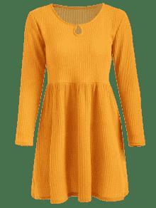 Ducky Caucho Xl Y De Acampanado Vestido Acampanado Punto Amarillo Vestido c7q0OO6n