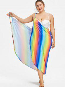 Up Convertible p Cover Size 2xl Wrap Sarong Plus Multicolor qTfw1w