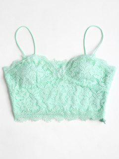 Cami Scalloped Lace Tank Top - Menta Verde L