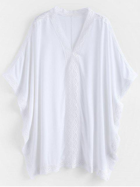 Kaftan Beach Top - Blanco Única Talla Mobile
