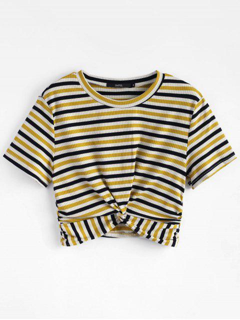 T-shirt Tricoté Torsadé à Rayures - Multi S Mobile