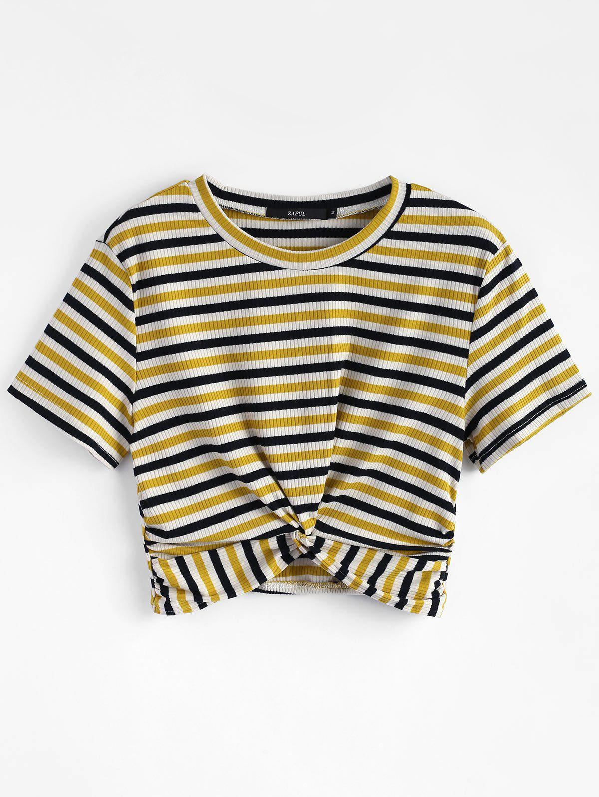 Striped Twist Knitted