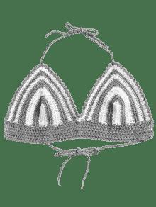 Crochet A Corto Gris Crochet En Top De Rayas 7RwY4Y8q