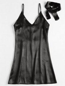 فستان مصغر بسحاب - أسود M