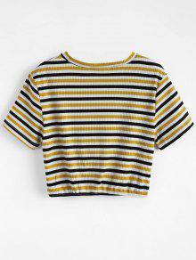 A Tejida M Rayas Camiseta Twist Multicolor 17nAqqgW