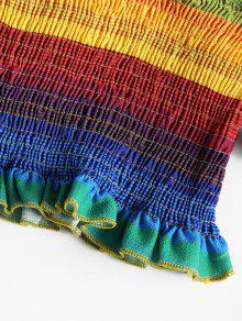 Multicolor Dise Con De Hombro Rayas A Top o A Rayas gzH5n