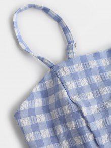 Y 243;n Con Corto Pantal Claro S Cintur Azul Plaid Cami Top 243;n xIBOBE7