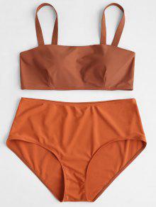 Acolchado Conjunto De De 1x Con Alto Bikini Halloween De Talle Relleno Naranja wrZr0f