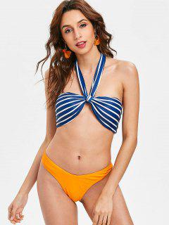 Striped Versatile Tie High Cut Bikini - Multi-a Xl