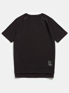 T-shirt Ras Du Cou à Manches Courtes Raglan - Café Profond 4xl