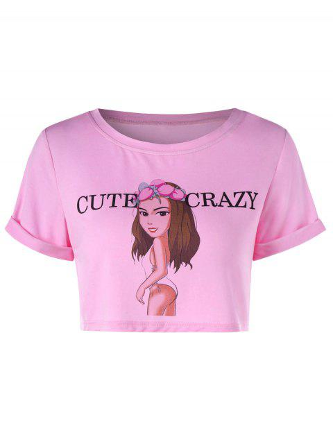 Camiseta de manga corta con estampado gráfico. - Multicolor-C S Mobile