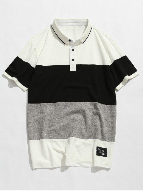 Camiseta Colorblock de manga corta - Blanco 3XL Mobile