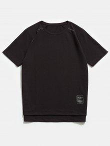 Manga Corta Corta Camiseta Caf Manga Raglan gq0xgtA5w